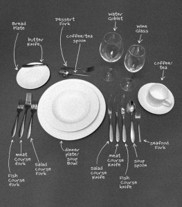 etiquette table setting